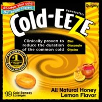 Cold-Eeze Cough Suppressant Drops Box With Honey Lemon Flavor - 18 Each