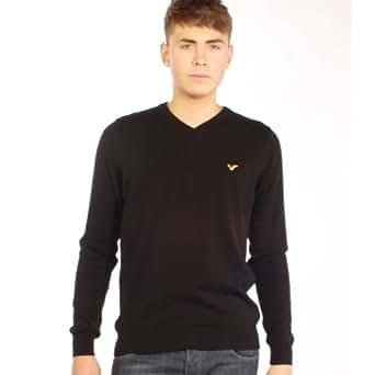 Voi Jeans Harrison Knitted V-neck Jumper Black - XL (44in)