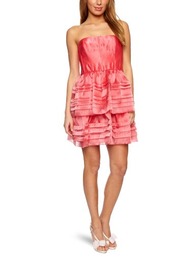 Adrianna Papell Double Tierd Strapless Women's Party Dress Coral 10