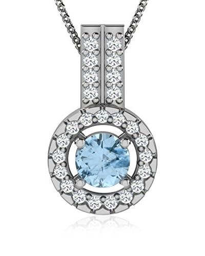 Art Of Diamond Collar Aquamarine White Gold