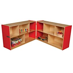 Folding Storage Unit Color: Strawberry Red