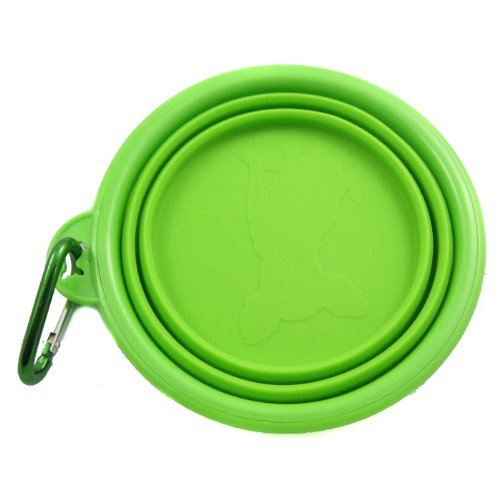 Rosh Silicone Expandable/Collapsible Travel Bowl with Carabineer for Leash - 1.5 Cups