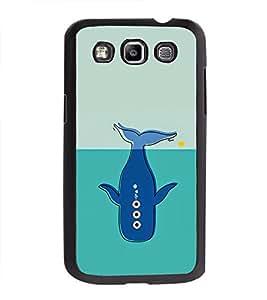 Printvisa Ultra Blue Whale 2D Hard Polycarbonate Designer Back Case Cover for Samsung Galaxy ...