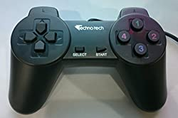 Technotech USB Normal Gamepad Joypad for PC (Black)