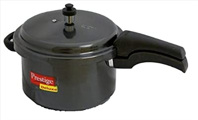 Prestige Deluxe Hard Anodized Black Color Pressure Cooker, 2-1/2-Liter by Prestige