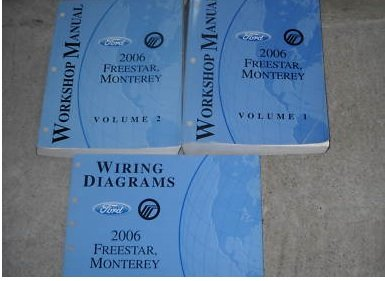 2006-ford-freestar-mercury-monterey-service-manual-set-2-volume-set-and-the-wiring-diagrams-manual