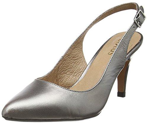 LotusGloss - Decolleté aperte sul retro con tacco donna , Argento (Silver (Pewter Pwt)), 38