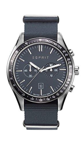 Reloj Cuarzo ESPRIT Para Hombre Con  Negro Cronógrafo Y Azul Nailon ES108241008
