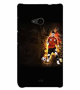 PrintVisa Sports Football 3D Hard Polycarbonate Designer Back Case Cover for Nokia Lumia 535