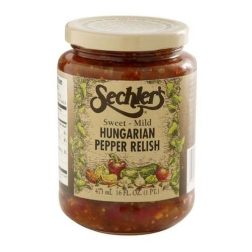 Sechlers Sweet Mild Hungarian Pepper Relish Pickle, 16 Ounce -- 12 per case. (Pickle Relish Sugar Free compare prices)