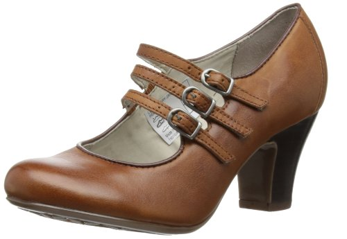 Hush Puppies - Scarpe col tacco Lonna Mary Jane, Donna, Marron (Tan Leather), 44