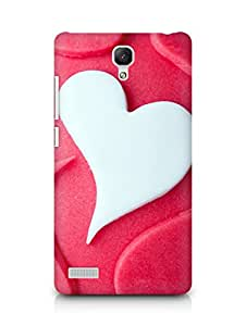 Amez designer printed 3d premium high quality back case cover for Xiaomi Redmi Note 4G (Heart Love Shaped Desert Cake)