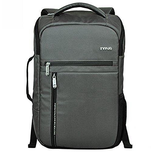 SINPAID portatile Gear zaino Computer scuola borsa uomini viaggiano Business grigio