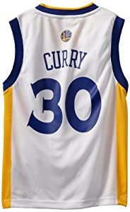 NBA Golden State Warriors Stephen Curry Youth 8-20 Replica Home Jersey by adidas