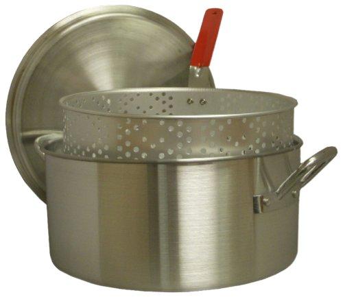 King Kooker KK14 14-Quart Aluminum Fry Pan with Punched Aluminum Basket (Aluminum Fry Pot compare prices)