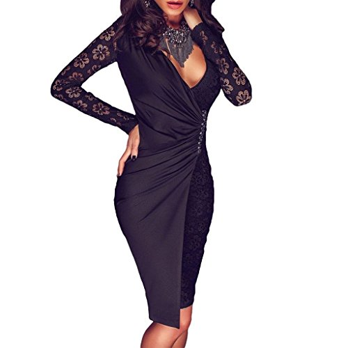 monroe-s-womens-long-sleeve-floral-lace-dress-bodycon-bandage