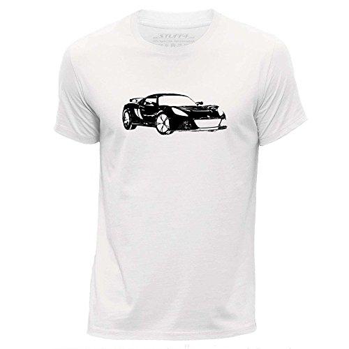 stuff4-hombres-x-grande-xl-blanco-cuello-redondo-de-la-camiseta-plantilla-coche-arte-exige-s