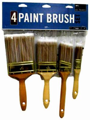Shur-Line-Import Di50051 Deluxe Poly Brush Set, 4-Piece
