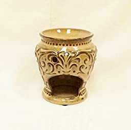 Ganz Time and Again Ceramic Tealight Warmer, Taupe