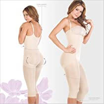 Body Shapers For Women Lycra Nylon Braless Adjustables Straps Capri type Gi...