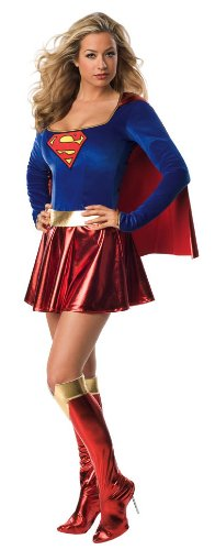 Secret Wishes Sexy Supergirl Costume, Five Sizes from X-Small to Plus