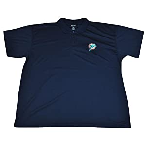 NFL Miami Dolphins Synthetic Performance Polo Navy Football Shirt DP2048 by NFL Team Apparel