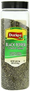 Durkee Black Pepper, Coarse Ground, 16 Ounce Containers