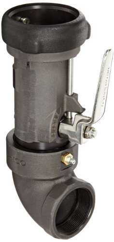 """Dixon Bs62-200 Anodized Aluminum Bayonet Style Dry Disconnect Tank Truck Fitting, 90 Degree Swivel Coupler With Viton Seal, 2"""" Coupling X 2"""" Npt Female"""