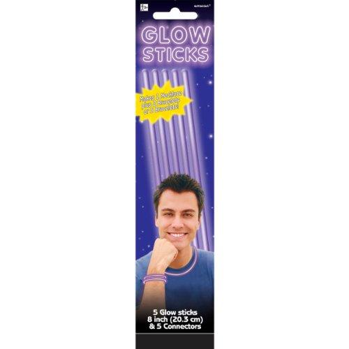 Purple Glow Bracelets Party Accessory - 1