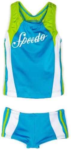 Speedo Little Girls'  Infinity Splice Tankini Swimsuit