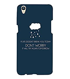 Good Quote 3D Hard Polycarbonate Designer Back Case Cover for Oppo F1 Plus :: Oppo R9