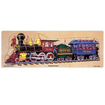 Picture of Fun Shure Railroad Train Jumbo Pegged Puzzle (B000I67PPY) (Pegged Puzzles)