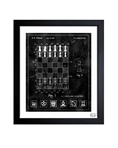 Oliver Gal Chess Game and Method 2000 Framed Art