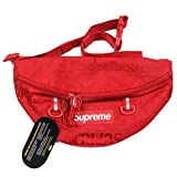 The Mass Fanny Pack Sup Waist-Bag for Man Women Outdoors Running Travel Climbing Carrying Cellphones(Army Green) (19ss Red) (Color: 19ss Red, Tamaño: One Size)