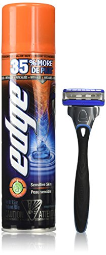 Energizer Edge Shave Gel Sensitive Skin with Aloe, 9.5 oz, 3 Pack (Edge Gel Shaving Cream compare prices)