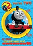 Thomas the Tank Engine age 2 birthday card with badge