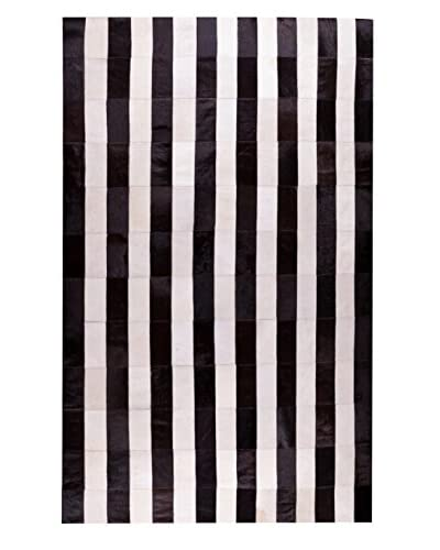 Natural Brand Hide Rug, Stripe Chocolate, 5' x 8'