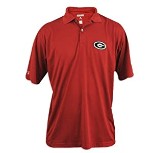 Georgia Bulldogs Mens Red Antigua Control Desert Dry Polo by Antigua