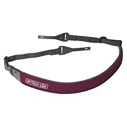 OP/TECH USA 1606002 Fashion Strap with Adjustable Connectors - for cameras and binoculars- neoprene (Wine)
