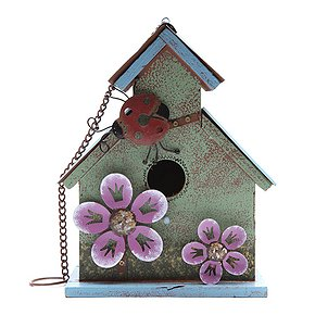 Green Ladybird Bird House
