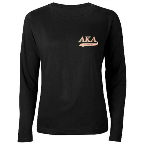 Alpha Kappa Alpha T-Shirt, Long, Swoosh