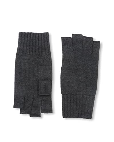 Portolano Men's Merino Fingerless Knit Gloves, Charcoal