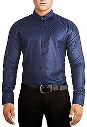 Unkonventional Squares Blue Shirt