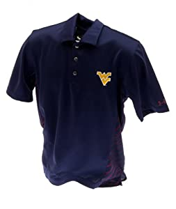 West Virginia Mountaineers Performance Polo Navy Left Chest Logo by Under Armour