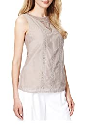 Autograph Cotton Rich Lace Top with Silk [T50-4058-S]