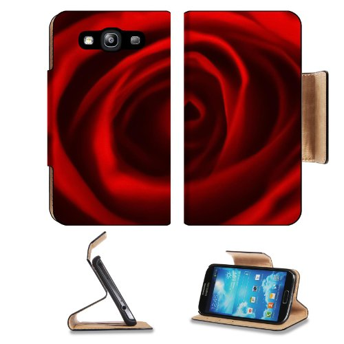 Red Rose Center Flower Beauty Fragrant Nature Present Love Samsung Galaxy S3 I9300 Flip Cover Case With Card Holder Customized Made To Order Support Ready Premium Deluxe Pu Leather 5 Inch (132Mm) X 2 11/16 Inch (68Mm) X 9/16 Inch (14Mm) Liil S Iii S 3 Pro
