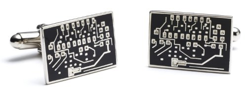 Black Microchip Cufflinks