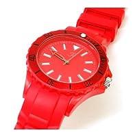 Reflex Unisex Rotating Bezel Red Silicone Strap Ladies Watch SR011