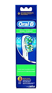 Oral-B - Pack de 3 cabezales para cepillos de dientes recargables - Dual Clean EB417