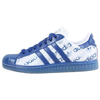 Adidas Men's Superstar 1 CLR Casual Shoe White/Royal (9)